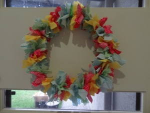 Easter Rag Wreath