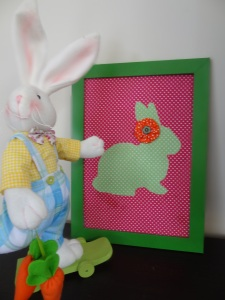 Easter Craft: Fabric Rabbit Artwork