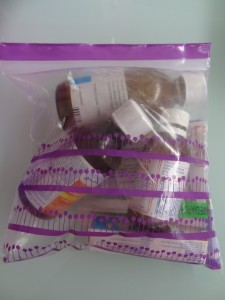 Disposing of old medications