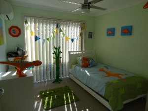 Dinosaur themed boys bedroom
