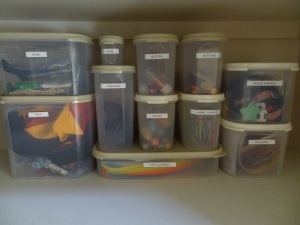 Using Tupperware to Organise Craft Supplies